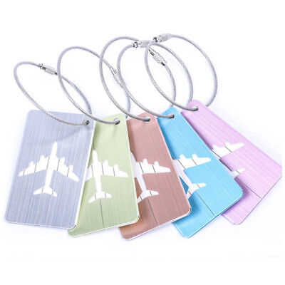 2PCS Travel Business Luggage Tag Luggage Suitcase Label Address ID Baggage Tags