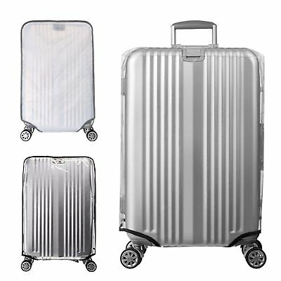 "Travel Luggage Suitcase Transparent  PVC Waterproof Cover Protector for 18""-30"""