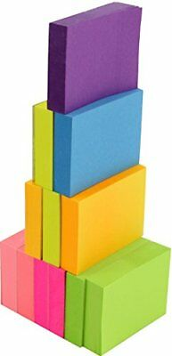 Neon Color Sticky Notes 1200 Pop Up Memo Reminder 12 Pads 100 Sheets Assorted