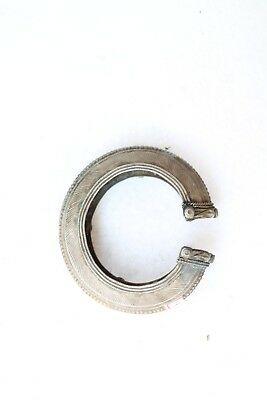Vintage Tribal old silver bracelet bangle cuff rabari bracelet NH4314