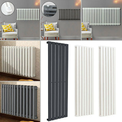 Modern Vertical Radiator Flat Oval Column Tall Upright Central Heating Radiators