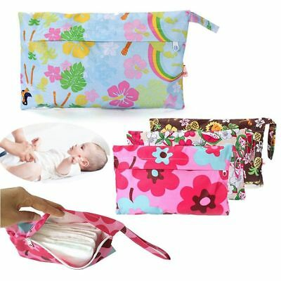 Baby Waterproof Nappy Dry Wet Cloth Storage Bag Travel Diaper Double EA9 Baby
