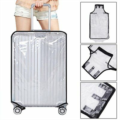 Waterproof PVC Transparent Travel Luggage Protector Suitcase Cover Bag Dustproof
