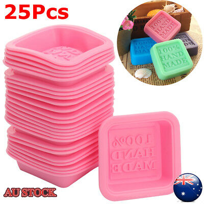 25pcs DIY Silicone Ice Cube Candy Chocolate Cake Cookie Cupcake Soap Molds Mould