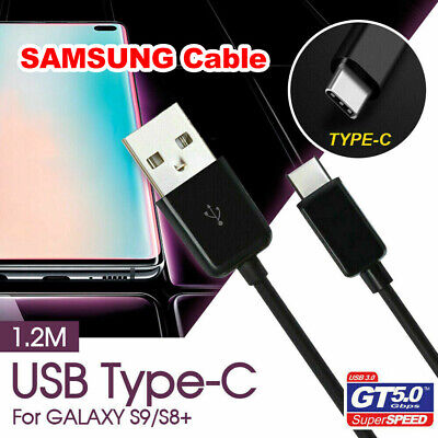 GENUINE Samsung Type C USB Sync Charger Charging Fast Cable Galaxy S9 / S8 Plus