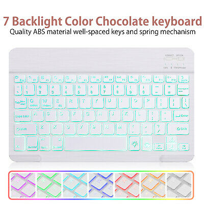 Universal 7 Colors Backlit/White Bluetooth Keyboard For iPad IOS Android Windows