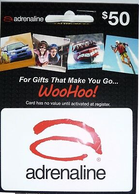 Adrenaline Gift Card $50 Value - Unwanted Gift