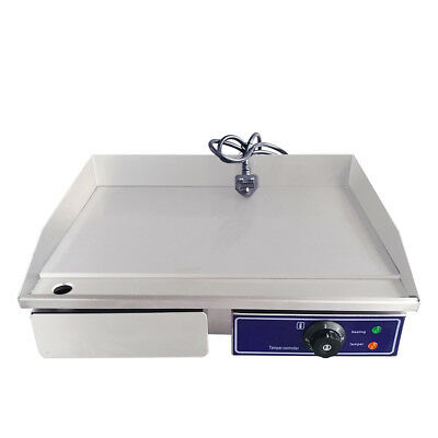 Stainless Steel Electric Flat Griddle Hotplate BBQ Kitchen Grill Bacon Egg Fryer