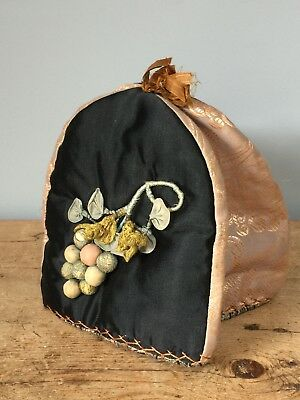 Vintage Early 20Th C Embroidered Tea / Hot Water Cosy/cover
