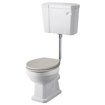 Hudson Reed Richmond Low Level Toilet with Lever Cistern - Excluding Seat