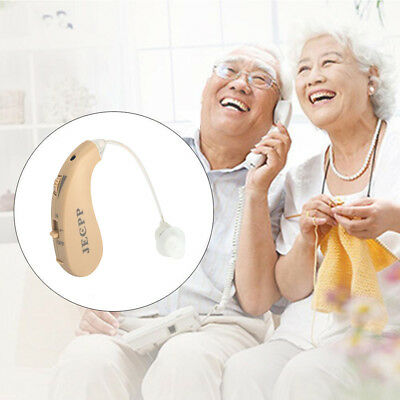 KXW-210 Mini Adjustable Digital Older BTE Hearing Aid Sound Voice Amplifier UK