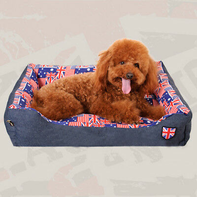 Cozy Warm Soft Rectangle Pet Dog Cat Bed Home Nest Mat Pad Cusion Faux Suede NEW