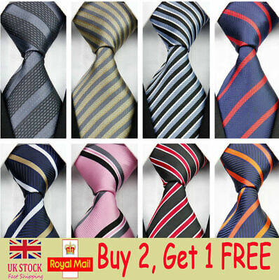 Skinny Wedding Silk Tie Men Striped Slim Business Necktie Mens Blue Black Ties