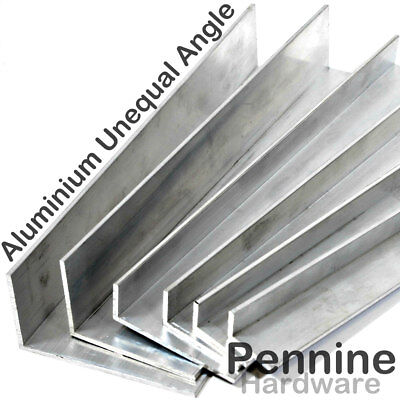 ALUMINIUM UNEQUAL ANGLE 5 Sizes 9 Lengths Available