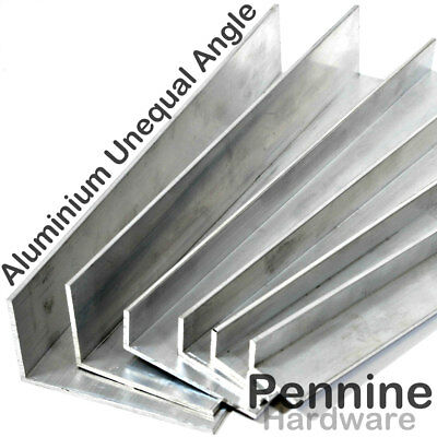 ALUMINIUM UNEQUAL extruded ANGLE 5 Sizes 9 Lengths Available