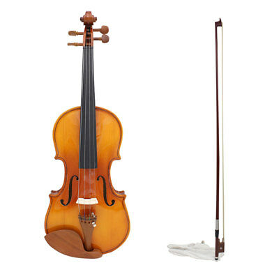 3/4 4/4 Full Size Acoustic Violin Fiddle Set With Bridge&Case&Violin Bow&Strings