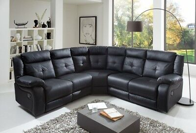 Sam Wohnlandschaft Ecksofa Couchgarnitur Relaxfunktion Leder Optik