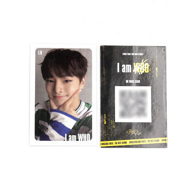 [Stray Kids]2nd mini album I am WHO Official QR Photocard/WHITE/Selfie/I.N