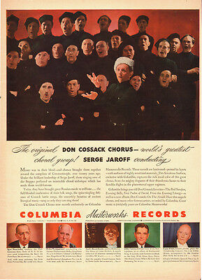 1940s vintage AD, DON COSSACK CHORUS on Columbia Records  052714