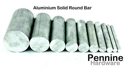 ALUMINIUM SOLID ROUND BAR rod 11 Diameters 10 Lengths Available