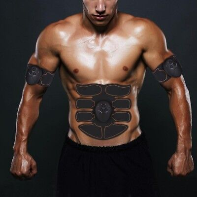 EMS Ultimate Abdominal Muscle ABS Stimulator Body Training Toner Exerciser 6 Pad