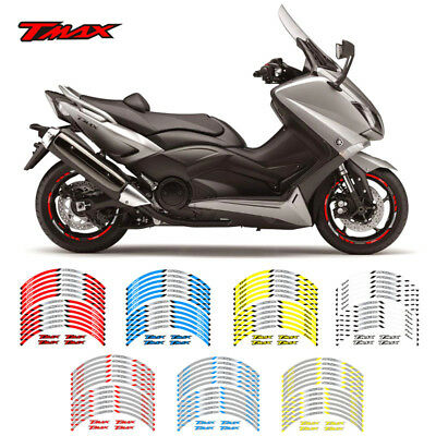 """Motorcycle Rim """"17 Stripes Wheel Decals Tape Stickers For Yamaha Tmax T-Max"""