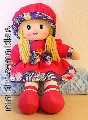 Amia Stoffpuppe Weichpuppe Wollhaarpuppe Mütze pink 50007952P NEU/OVP Puppe