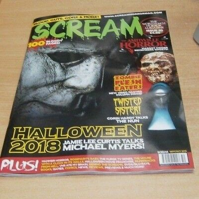 Scream magazine #50 SEP/OCT 2018 Halloween, Amityville Horror, Twisted Sister &