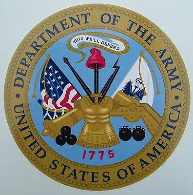 """US ARMY, """"Department of the ARMY"""", Militär Sticker, Auto Aufkleber, Jeep, Reo"""
