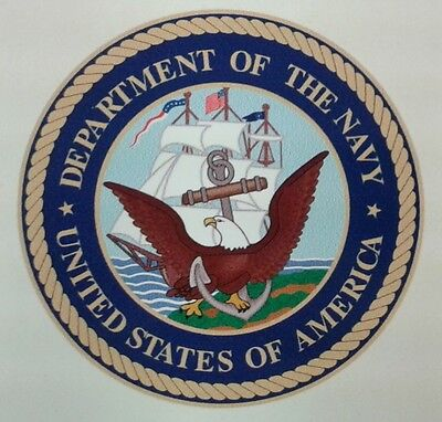 """US ARMY, """"Department of the Navy"""", Militär Sticker, Auto Aufkleber, Jeep, Reo, N"""