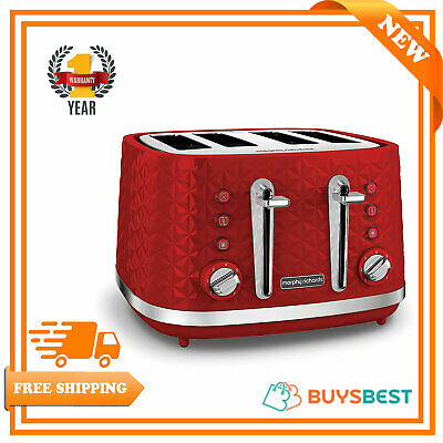 Morphy Richards Vector 4 Slice Toaster 1800w In Red - 248133