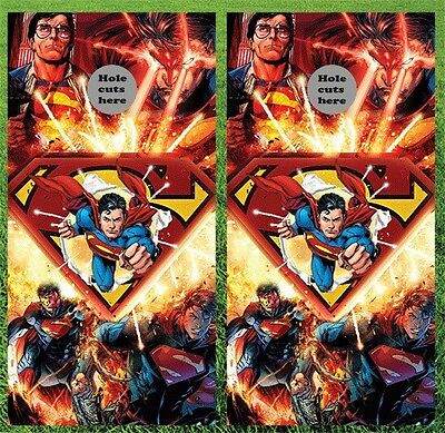 Superman Cornhole Wrap Decals Bag Toss 3M Vinyl 24x48 Fast Shipping Best Quality