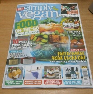 Simply Vegan magazine #5 OCT 2018 On-the-go Lunch Recipes, Reduce your Plastic &