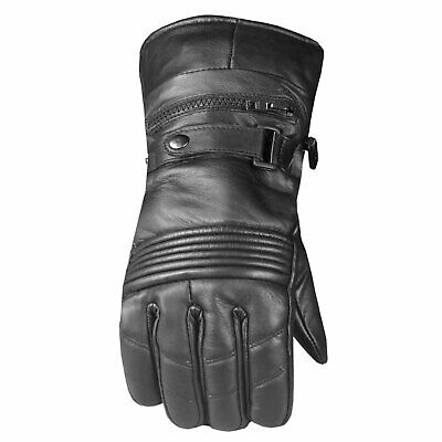Men's Premium Leather Thinsulate Winter Waterproof Cover Motorcycle Gloves