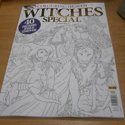 Colouring Heaven magazine #40 2018 Witches Special; 40 Tarot-Inspired Designs