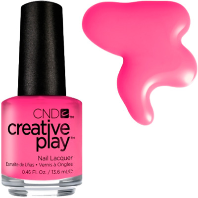 Original CND Nail Polish Sexy and I know it pink cream texture