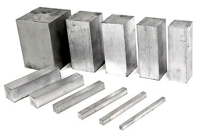 ALUMINIUM SOLID SQUARE BAR 13 Sizes 10 Lengths Available