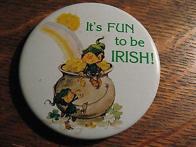 Himself The Elf Pin - Vintage 1977 American Greetings Irish Leprechaun Lapel Pin