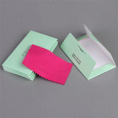 10PCS Jewelry Cleaning Cloth Silver Polishing Cloth Cleaner Anti-Tarnish Tool TH