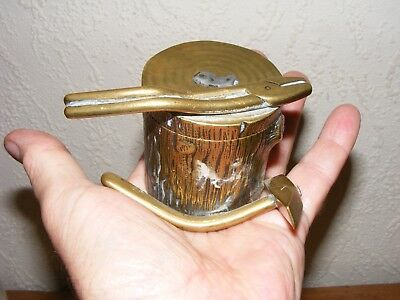 Collectable Brass Inkwell Desk Top Display Ornament Writing Equipment