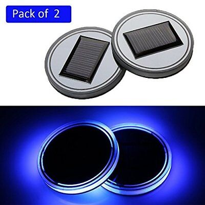 blu 6.5 * 1cm / 2.6 * 0.4  Onerbuy 2 Pack solare LED Car Holder tappetino (muo)