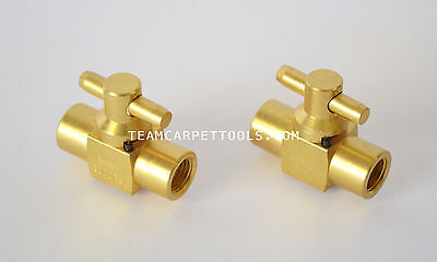 Carpet Cleaning DAM Brass 3000 PSI Shut-Off Valve Truckmount Portable (Set of 2)