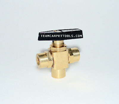 """3 Way Ball Valve Chemical Metering Selector 1/8"""" Carpet Cleaning Wand Truckmount"""
