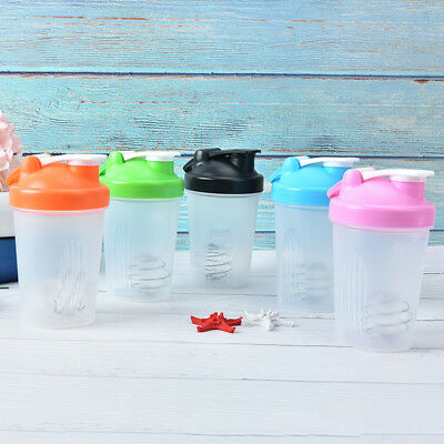 1pc protein shaker  water bottle sports fitness gym multifunction 400ml YEG
