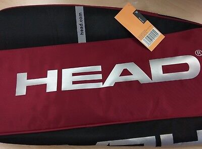 HEAD SMU Racquet Bag Red/Black with Shoulder Strap Style Code #901464