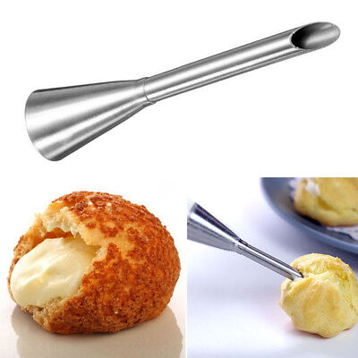 Stainless Steel Long Puff Icing Cream Piping Nozzle Tip Pastry Decor DIY Tool