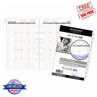 AT-A-GLANCE Day Runner Month Planner Refill January December 2019 Loose-Leaf Si