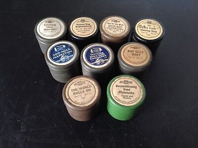 Vintage Lot of 9 Empty Chevrolet Jam Handy Film Canisters