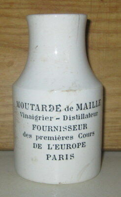 Rare Antique 19Th Century French Mustard Stoneware Jar