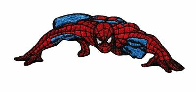 Spiderman Low Crawl Embroidered Iron On Patch - Marvel Comics Superhero 137-D